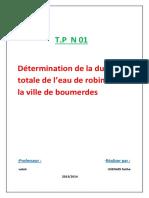 t.p 01 de Chimie Des Eaux