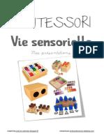 Cahier de Presentations de Vie Sensorielle