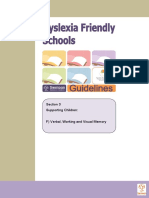 Information Special Educational Needs Dyslexia Friendly School Verbal Guide