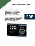Lector Biometrico de Asistencia Por Huella Zkteco Iclock 360