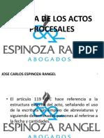 CLASE 14 - FORMA DE LOS ACTOS PROCESALES (PARTE 1).pptx