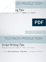 television intros script writing tips