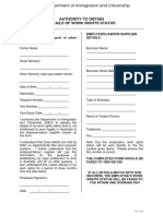 6. Work Rights Check Form