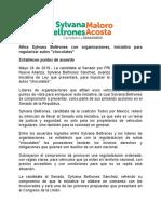 """24/05/2018 Afina Sylvana Beltrones con organizaciones, iniciativa para regularizar autos """"chocolates"""""""