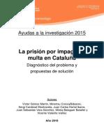 La Prisión Por Impago de Multa en Cataluña