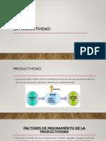 Factores Del Incremento de La Productividad