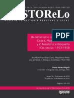 Bandolerismo Rural en El Bajo Cauca, Magdalena Medio y El Nordeste Antioqueño (Colombia), 1953-1958