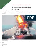 NOTICIA Informe Oficial Una Cadena de Errores Llevó Al Derrame de BP