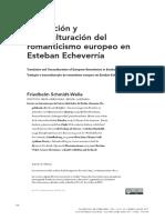 Traducción y Transculturacion Del Romanticismo Europeo