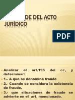 Diapositivas EL FRAUDE DEL ACTO JURIDICO- Estudiantes