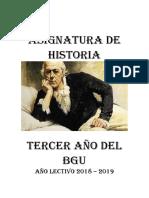 20) Asignatura Historia 3ro. Bgu