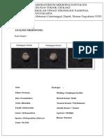 Foram Plangtonik P2(Globorotaliadehiscent)