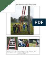 Trabajos Con Escaleras en Postes