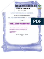 Informe de Estación Meteorológica y Climatologica