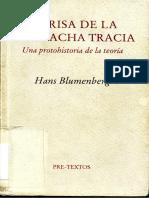 Blumenberg, Hans - La Risa de La Muchacha Tracia. Protohistoria de La Teoria
