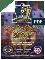 2018 Reading United Program Book