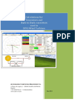 Calculations for Generators and Back-To-back Converters in DFIG Wind Turbines