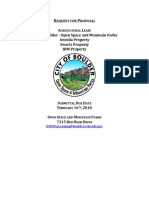 City of Boulder Request for Proposals, Swartz and Aweida properties