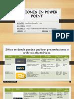Secciones en Power Point