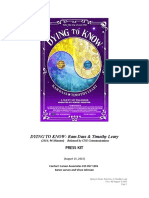 DYING TO KNOW - Ram Dass + Timothy Leary. movie press kit
