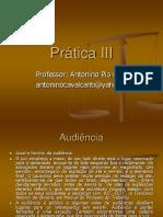 Audiência - Prática Jurídica III