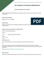 Taleem-e-pakistan.com-Important Short Answer Questions for Business Mathematics ICom Part 1