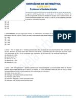 Exercicios de Matematica Tjrs
