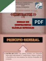 Clausulas Especiales de La Compraventa.