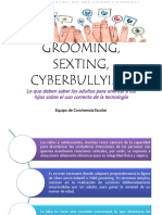 Grooming Sexting Cyberbullying
