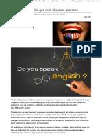 Anglicismo - o Inglês Que Você Não Sabe Que Sabe - Blog Seven Idiomas