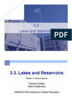 3.3. Lakes Reservoirs