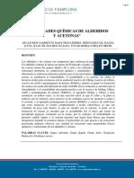 Propiedades Químicas de Aldehídos y Acetonas. informe 7