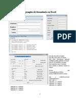 Ejemplos de Formulario en Excel