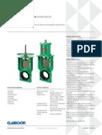 2-24 (50-600mm) La válvula cuchilla Clarkson KGD ofrece la última tecnología de elastómeros con el diseño de manga Mark III. MANGA KGD MARK III.pdf