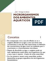 Microrganismos áquaticos