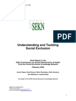 WHO Determinantes Sociales de La Salud Final Report