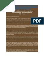 Subcomandante Insurgente Moisés - Economía política desde las comunidades I