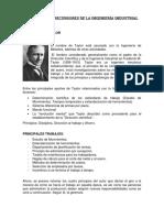 Principales Precursores de La Ingeniería Industrial