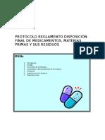 Protocolo Reglamento Disposicion Final de Medicamentos