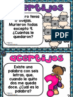 Acertijos de Matemáticas Para Niños de Primaria