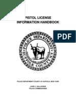 Pistol License Handbook