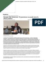 Georges Didi-Huberman- 'El pesimismo no...ner la última palabra' - Francia - RFI