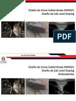 UNAB Diseño Subterraneo 2018 Diseño Del Metodo Sub Level Stoping
