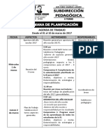 Agenda de Trabajo Planificaciòn