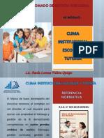 CLIMA INSTITUCIONAL ESCOLAR Y TUTORIA