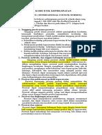 (1b)Kode Etik Icn, Ana, Ppni