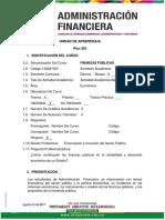 Unidad de Aprendizaje Finanzas Publicas 2017-2