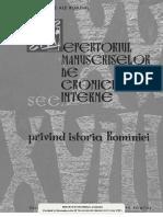 Repertoriul Manuscriselor de Cronici Interne - Diacronia