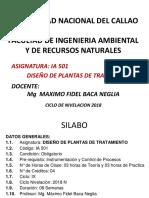 SILABO DESARROLLADO DISEÑO DE PLANTAS DE TRATAMIENTO -CICLO DE NIVELACION 2018-PRIMERA PARTE.pdf