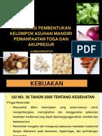 Asuhan Mandiri Kesehatan Tradisional Toga Dan Akupuntur (PKM I SPH)